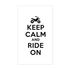 Keep Calm Ride On Decal