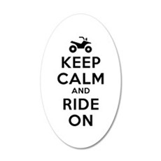 Keep Calm Ride On Wall Decal