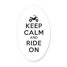Keep Calm Ride On Oval Car Magnet