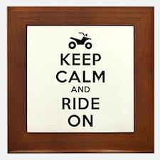 Keep Calm Ride On Framed Tile