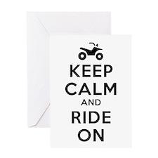 Keep Calm Ride On Greeting Card