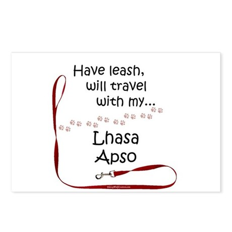 Lhasa Apso Travel Leash Postcards (Package of 8)