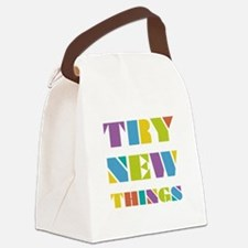 Try New Things Canvas Lunch Bag