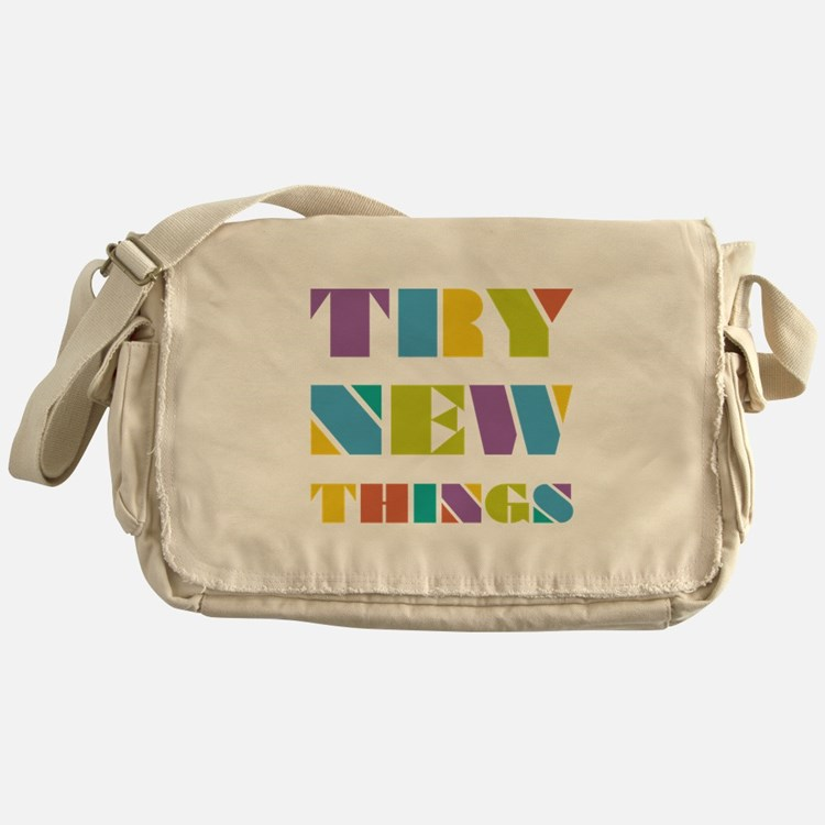 Try New Things Messenger Bag