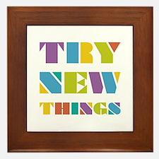 Try New Things Framed Tile