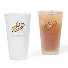 Personalized Mrs. Drinking Glass