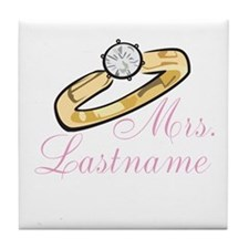 Personalized Mrs. Tile Coaster