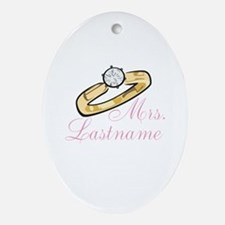 Personalized Mrs. Ornament (Oval)