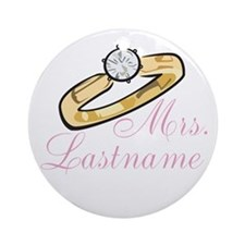 Personalized Mrs. Ornament (Round)