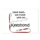 Keeshond travel mugs Postcards