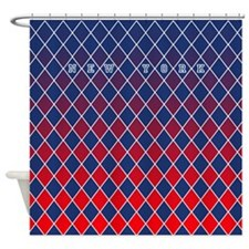 New York Blue and Red Shower Curtain