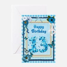 13th Birthday with a scrapbooking theme Greeting C