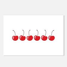 Row Of Cherries Postcards (Package of 8)