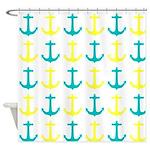 Nautical Anchors Shower Curtains
