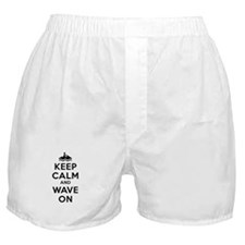 Keep Calm Wave On Boxer Shorts