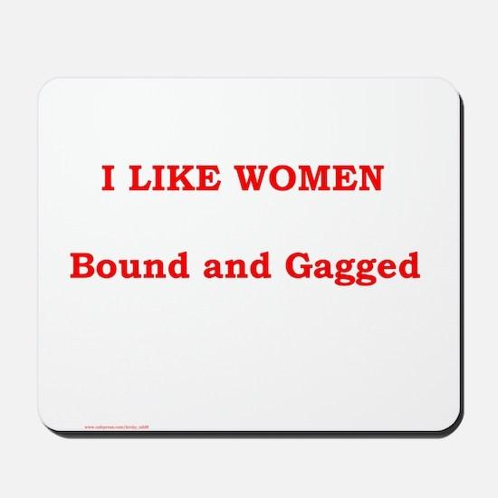 Women Bound & Gag Mousepad