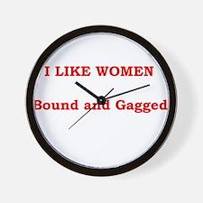 Women Bound & Gag Wall Clock