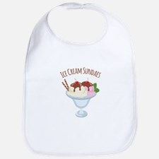 Ice Cream Sundaes Bib