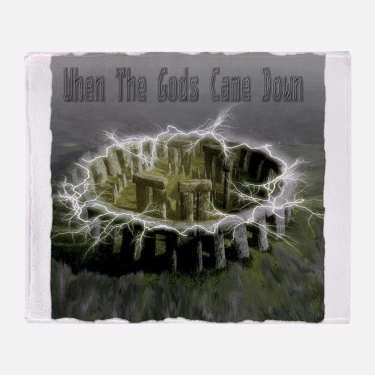 When The Gods Came Down Throw Blanket