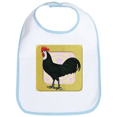 Whitefaced Spanish Rooster Bib