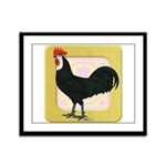 Whitefaced Spanish Rooster Framed Panel Print