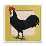 Whitefaced Spanish Rooster Tile Coaster
