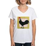 Whitefaced Spanish Rooster Women's V-Neck T-Shirt