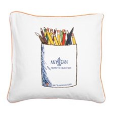 Promote Education (2) Square Canvas Pillow