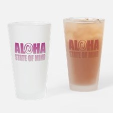 Aloha Pink Drinking Glass