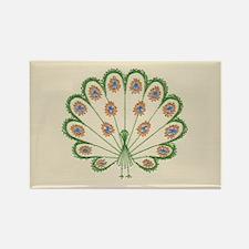 Strutting Peacock Rectangle Magnet