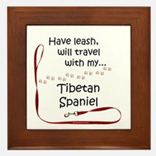Tibbie Travel Leash Framed Tile
