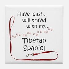 Tibbie Travel Leash Tile Coaster
