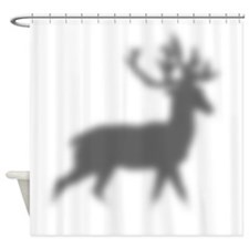 Reindeer Silhouette Shower Curtain