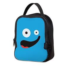 Silly Face - Blue Neoprene Lunch Bag
