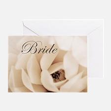 Cream Flower Bride Wedding Greeting Card