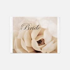 Cream Flower Bride Wedding 5'x7'Area Rug