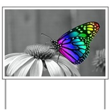 Flower with Butterfly Yard Sign