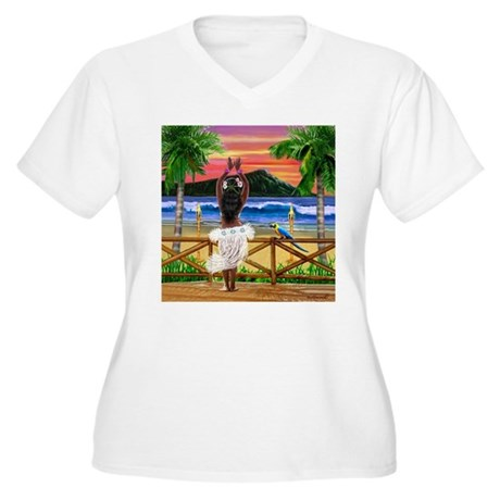 HAWAIIAN SUNSET HULA Plus Size T-Shirt