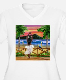 HAWAIIAN SUNSET HULA Plus Size T-Shirt