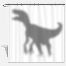 Dinosaur Velociraptor Silhouette Shower Curtain