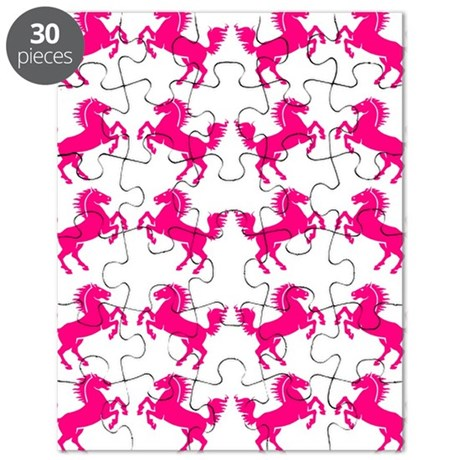 Pink Prancing Horses Puzzle