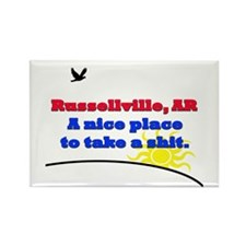 Russellville Rectangle Magnet