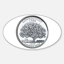 Connecticut State Quarter Oval Decal