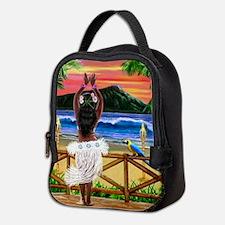 HAWAIIAN SUNSET HULA Neoprene Lunch Bag