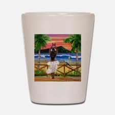HAWAIIAN SUNSET HULA Shot Glass