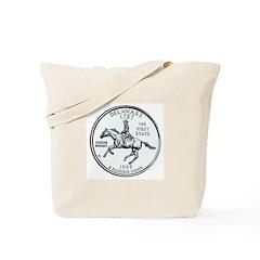 Deleware State Quarter Tote Bag
