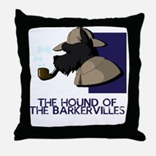 Hound of the Barkervilles Throw Pillow