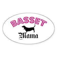 Basset Mama Oval Decal