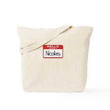 Hello Nicolas Tote Bag