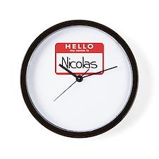 Hello Nicolas Wall Clock